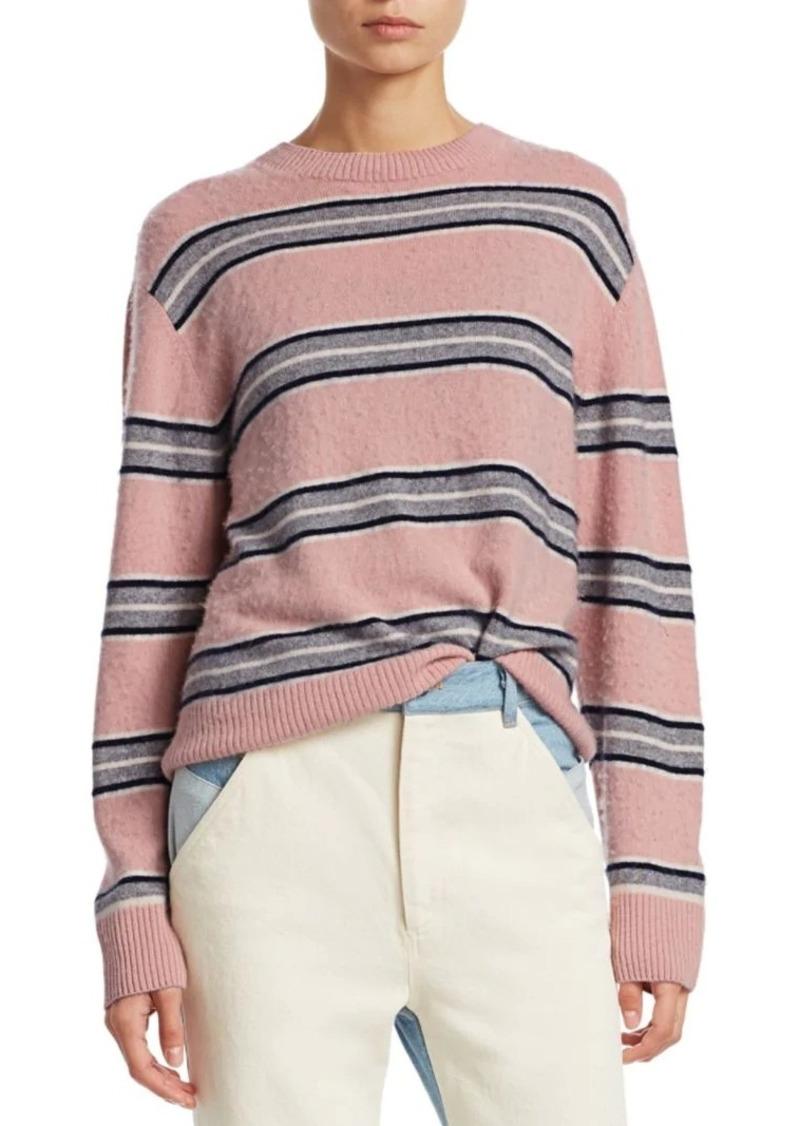 Sea Saline Cashmere Striped Boyfriend Sweater