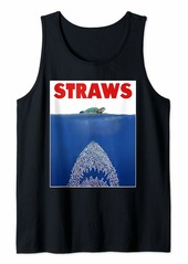 Save The Sea Turtles Conservation Gift Shirt Anti Straws Tank Top