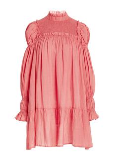 Sea - Women's Hattie Smocked Cotton-Ramie Mini Dress - Pink/blue - Moda Operandi