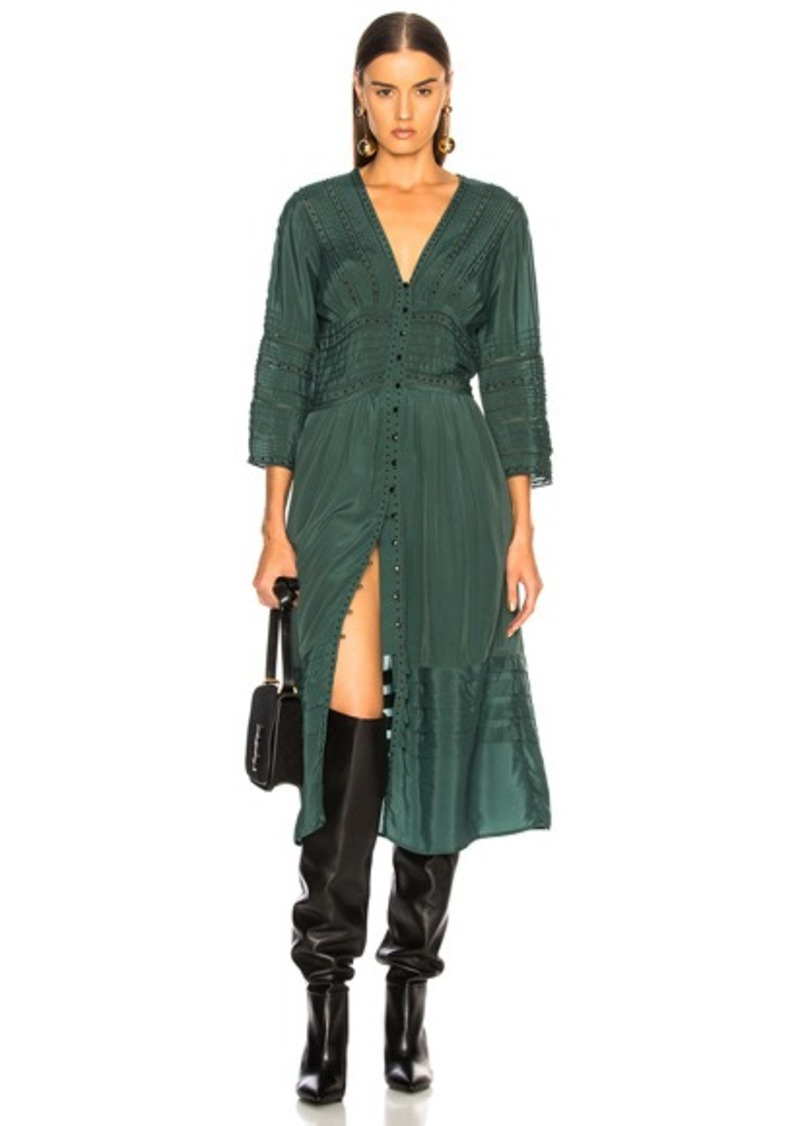 Sea Azzedine 3/4 Sleeve Midi Dress
