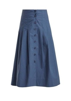 Sea Calah high-rise cotton midi skirt