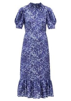 Sea Celine mottled-print cotton-blend dress
