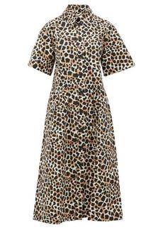 Sea Clara animal-print cotton-poplin shirtdress