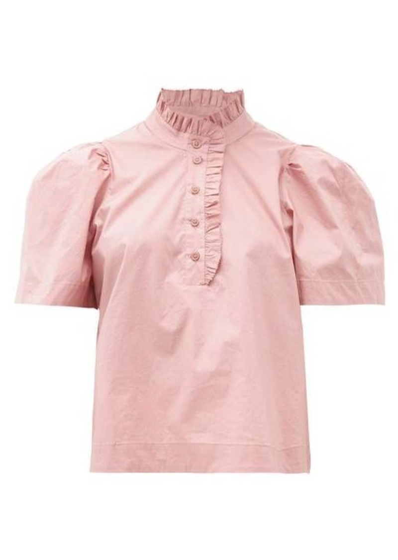 Sea Clara puff-sleeve cotton-blend blouse
