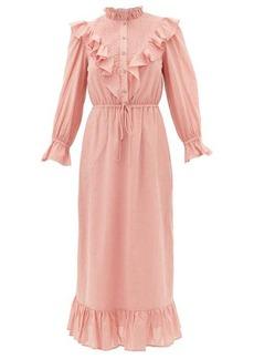 Sea Clara ruffle-bib cotton dress