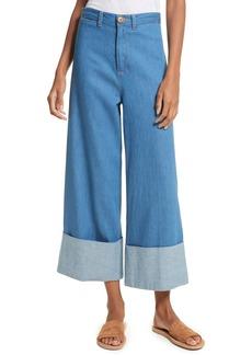 Sea Classic Cuffed Wide Leg Jeans