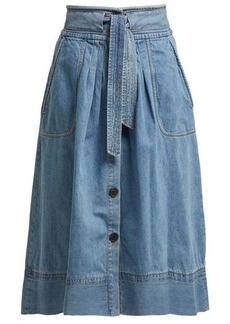 Sea Deja tie-front denim skirt