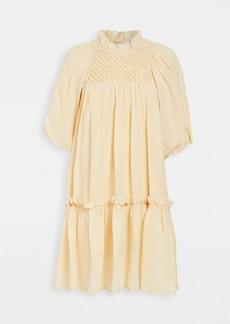Sea Geneva Lantern Sleeve Dress