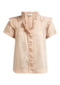 Sea Hemingway short-sleeved ruffle blouse