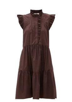 Sea Karla ruffled cotton-blend dress