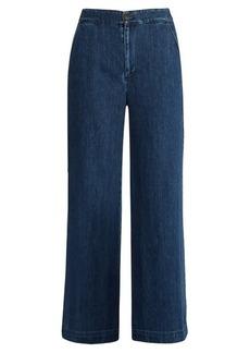 Sea Lace-up back wide-leg jeans