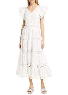 Sea Lea Eyelet & Lace Cotton Midi Dress