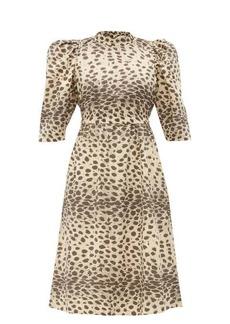 Sea Leo leopard-print cotton dress