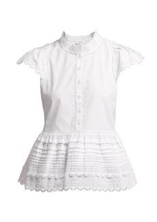 Sea Lilli ruffle-trimmed cotton blouse