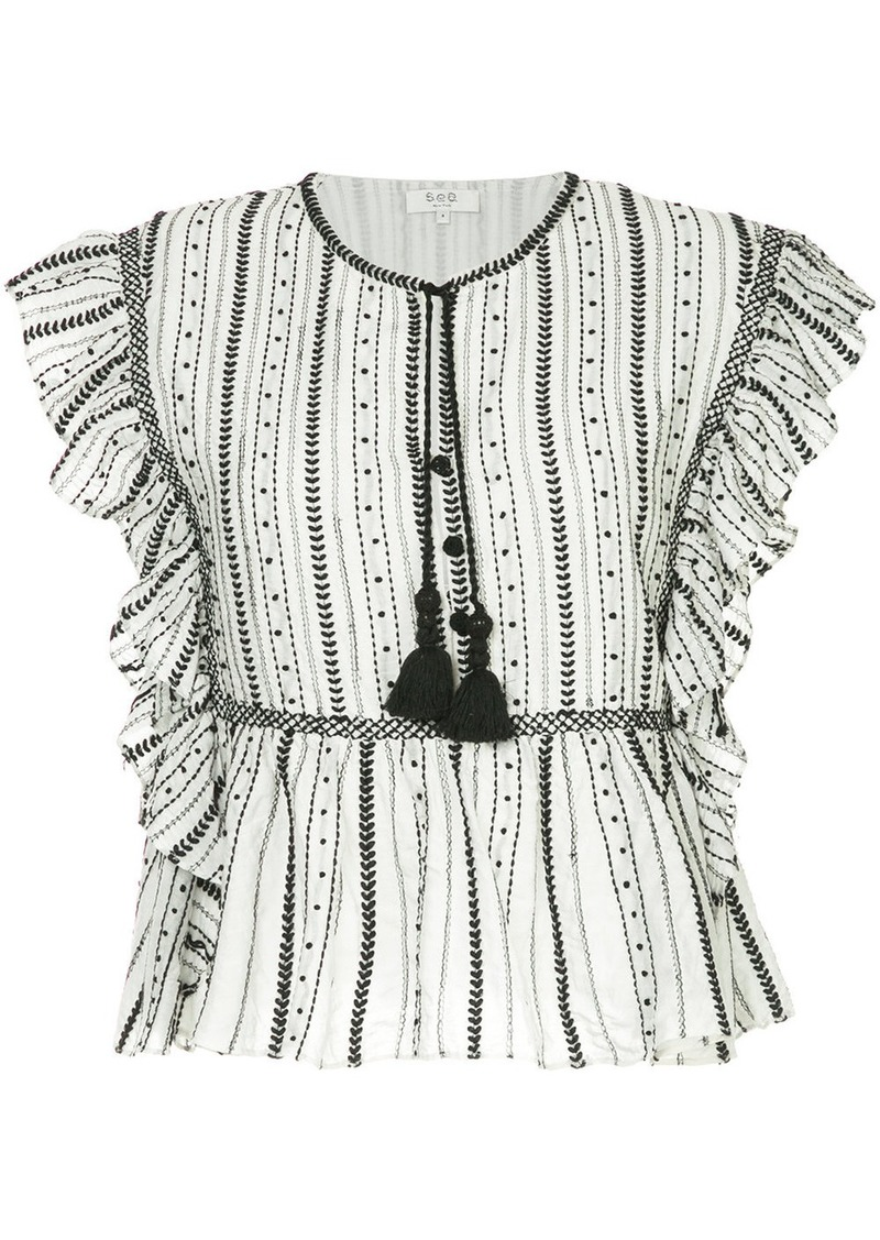 Sea Louisa embroidered blouse