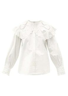 Sea Marina Peter Pan collar cotton-poplin shirt