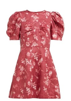 Sea Monet floral-print puff-sleeve mini dress