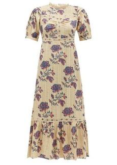 Sea Odette floral-print cotton midi dress