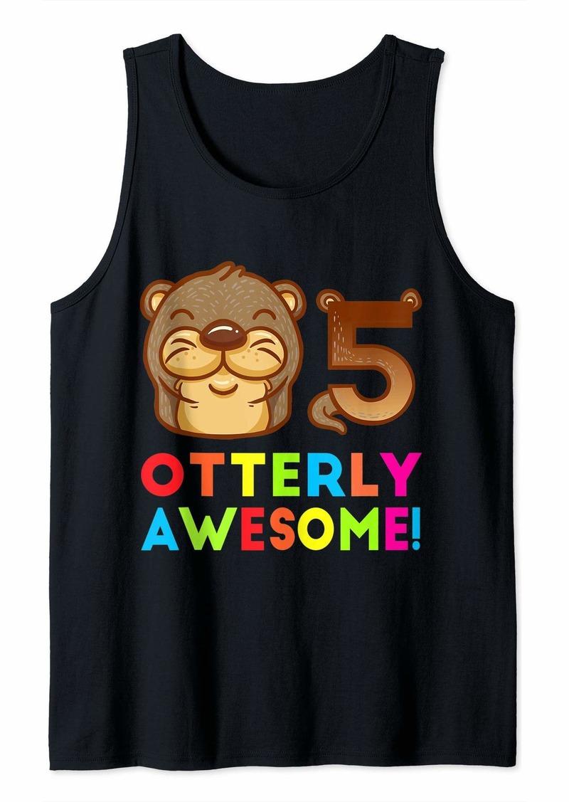 Sea Otter Birthday Kids Kindergarten Shirt Otterly Awesome Tank Top