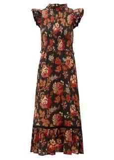 Sea Pascale floral-print cotton-jacquard dress