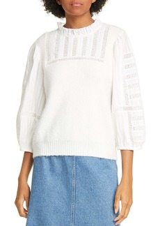 Sea Pascale Mixed Media Sweater