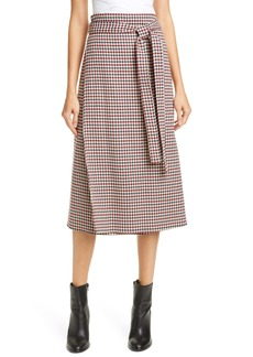 Sea Petra Houndstooth Midi Skirt