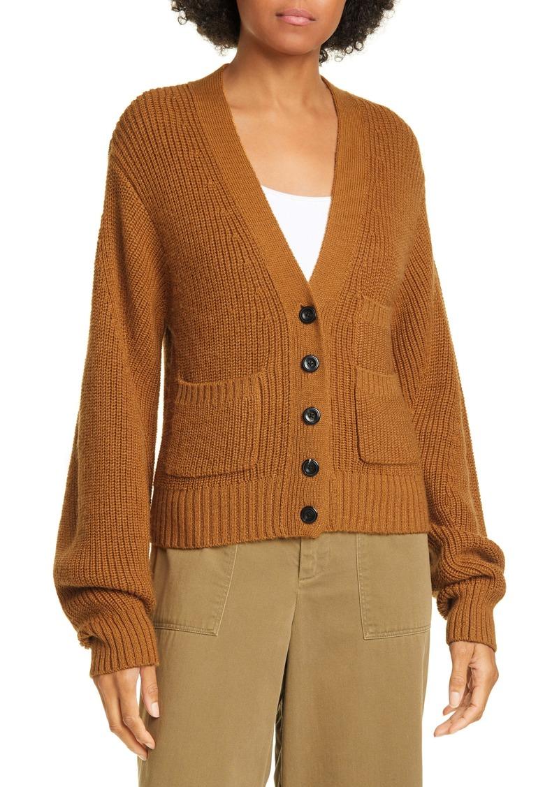 Sea Rib Wool Blend Cardigan