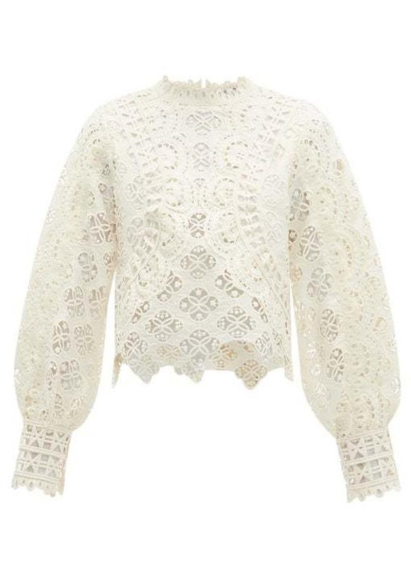 Sea Rosalie guipure-lace blouse