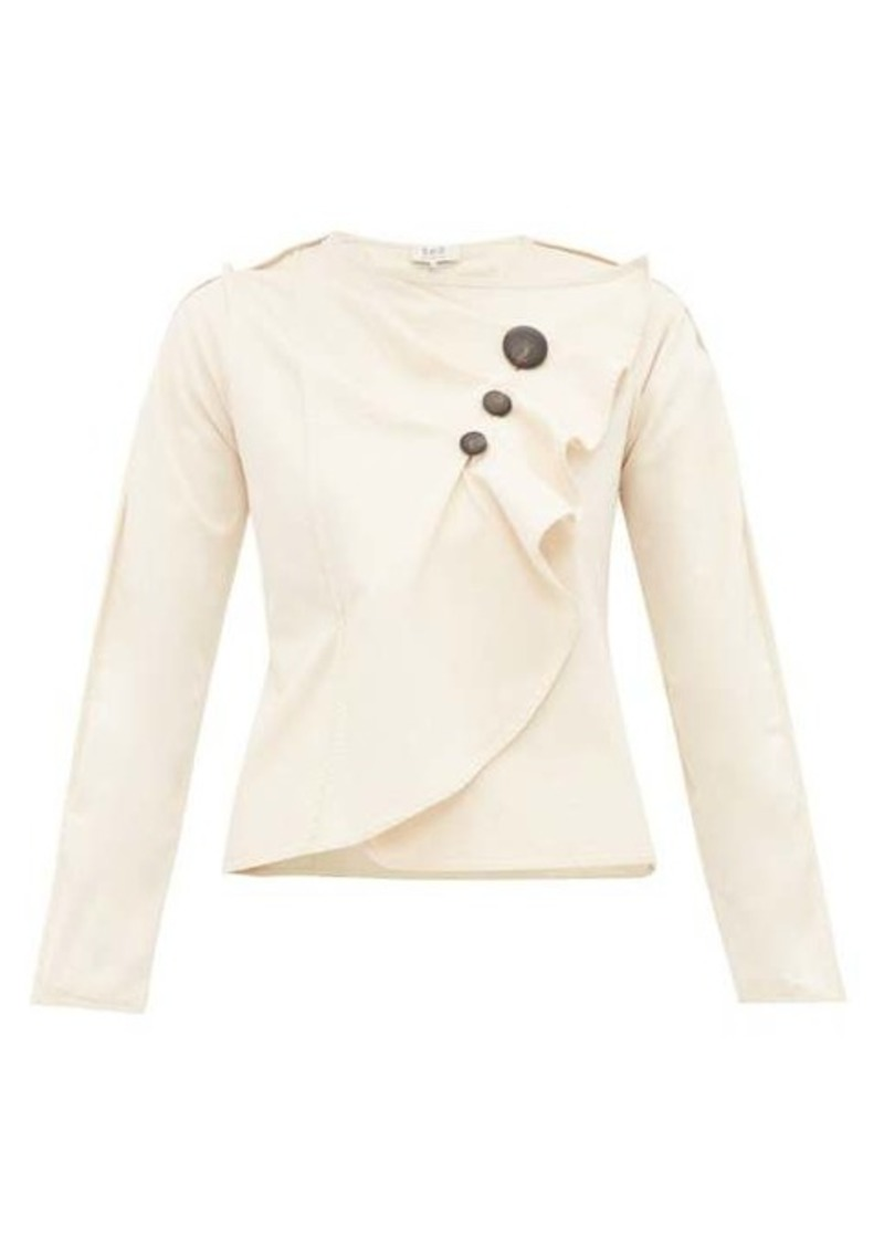 Sea Scout gathered cotton-blend top