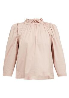 Sea Sienna ruffled cotton-blend blouse