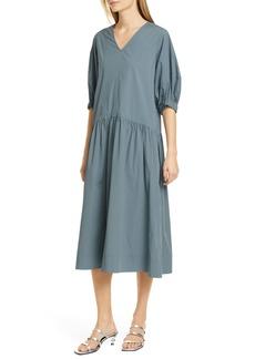 Sea Tabitha Drop Waist Stretch Cotton Midi Dress