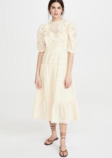 Sea Talitha Lantern Sleeve Maxi Dress