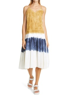 Sea Tandi Block Dye Midi Dress