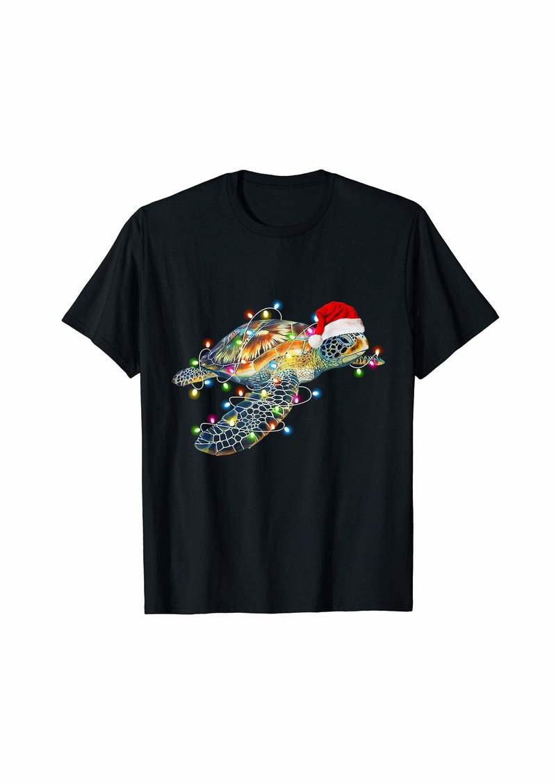 Sea Turtle Pet Lover  Christmas Funny T-Shirt