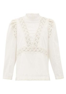Sea Victoria embroidered pintucked cotton blouse