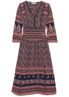 Sea Woman Aurora Printed Cotton-voile Midi Dress Papaya