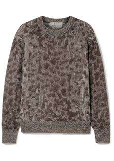 Sea Woman Jacquard-knit Sweater Dark Brown