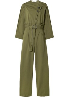 Sea Woman Scout Belted Cotton-blend Jumpsuit Army Green