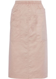 Sea Woman Sienna Stretch-cotton Broadcloth Midi Skirt Blush