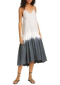 Sea Zelda Tie Dye Stretch Cotton Midi Dress