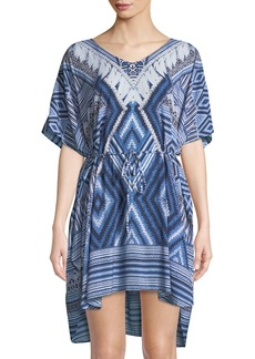 Seafolly Desert-Tribe Printed Kaftan Coverup