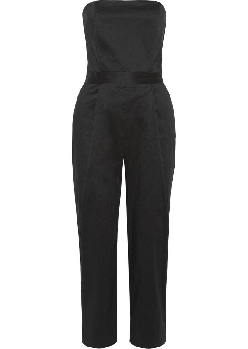 2606e259b998 Sea Strapless stretch-poplin jumpsuit