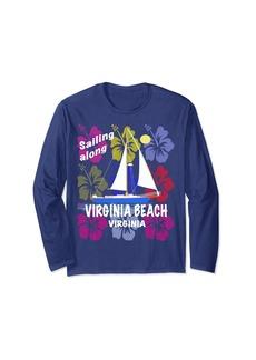 Sea Unisex Hibiscus Sailing Virginia Beach Virginia beach tee shirt