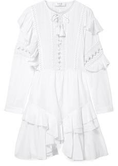 Sea Weatherly Crochet-paneled Cotton-blend Dress