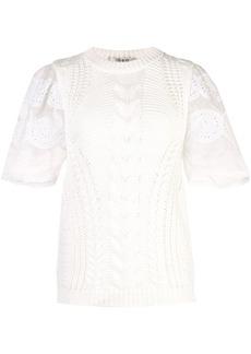 Sea Zinnia knitted top