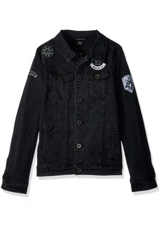 Sean John Big Boys' Denim Patches Jacket  L