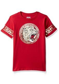 Sean John Boys' Big Lion Empire Short Sleeve Tee True red M