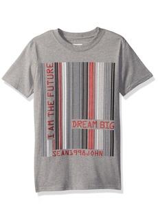 Sean John Boys' Big One Short Sleeve Tee Heather Grey XL
