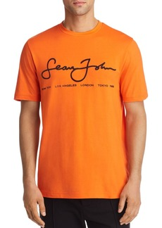 Sean John City Script Embroidered Tee