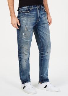 Sean John Men's Athletic, Tapered Paint Splatter Jeans